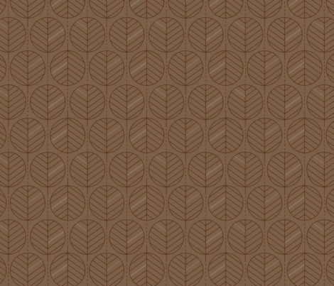 Geometric Palm Leaves Chestnut fabric by rainbowtrout on Spoonflower - custom fabric