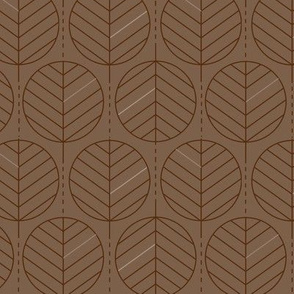Geometric Palm Leaves Chestnut