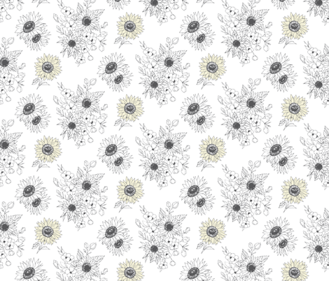 Sunflowers fabric by rose_and_stone on Spoonflower - custom fabric