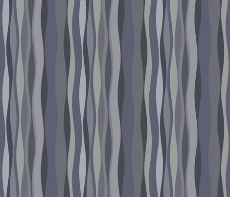 shadow purple wave fabric by wren_leyland on Spoonflower - custom fabric