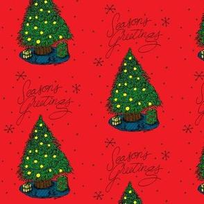 Seasons Greetings Christmas Tree
