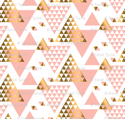 Pink & Gold Triangles