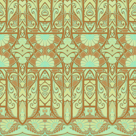 Three Cheers For the Green and  Tan fabric by edsel2084 on Spoonflower - custom fabric