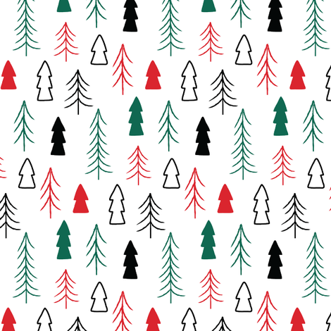 Holiday Trees fabric by kelmar on Spoonflower - custom fabric