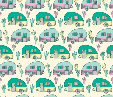 Desert Glamping fabric by charladraws on Spoonflower - custom fabric