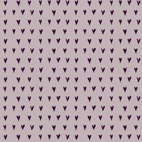 mini hearts - purples
