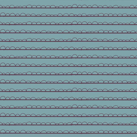 frilly stripe light pool/grape fabric by ali*b on Spoonflower - custom fabric