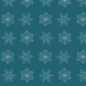 snowflakes dark-mint