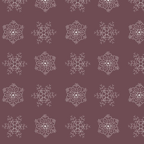 snowflakes lilac