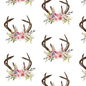 Antlers and flowers-01