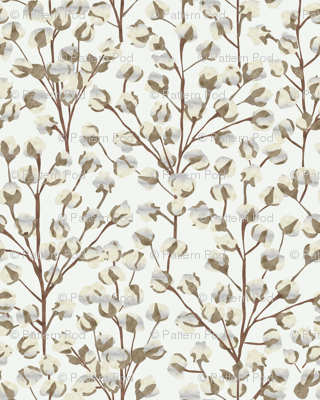 Cotton Wallpaper Large Scale P947b