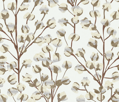 Cotton Wallpaper Large Scale P947b  fabric by pattern_pod on Spoonflower - custom fabric