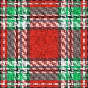 Distressed red + green (MATCHING) Stewart plaid by Su_G