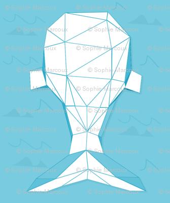 blue geometric whale