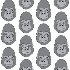 gorilla-faces on white