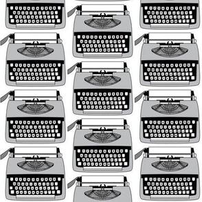 vintage grey typewriters