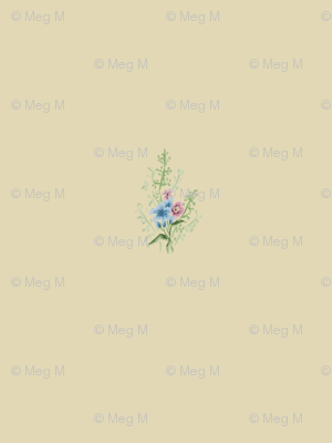 Delicate Bouquet: an 1860s inspired print