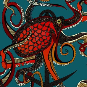 octopus ink teal
