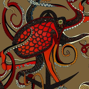 octopus ink umber