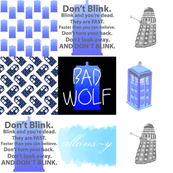 Police Box Faux Quilt