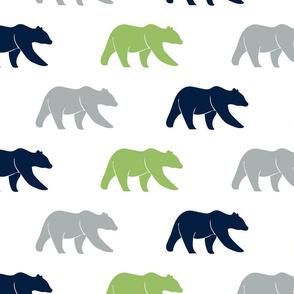 multi bears || green grey navy