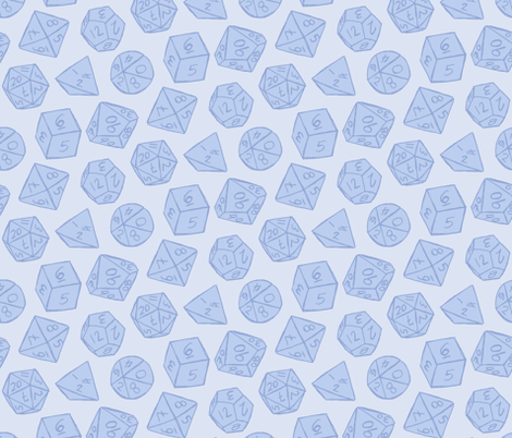 Gaming Dice - Blue fabric by laowti on Spoonflower - custom fabric