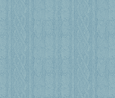 Winter Hygge Knit in blue fabric by lburleighdesigns on Spoonflower - custom fabric