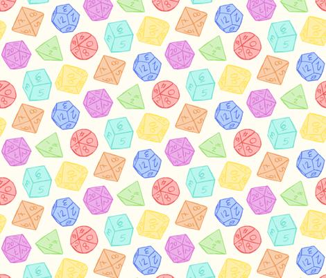Gaming Dice - Rainbow fabric by laowti on Spoonflower - custom fabric