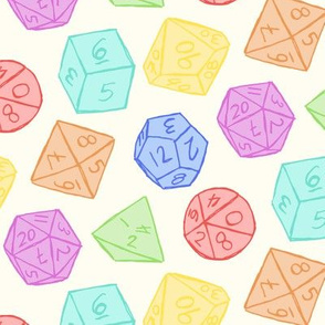 Gaming Dice - Rainbow