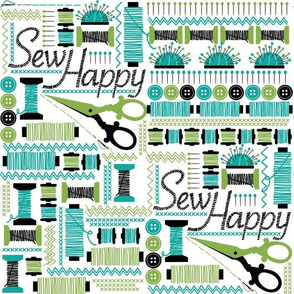 SEW happy - Teal