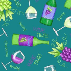 Wine Time Teal