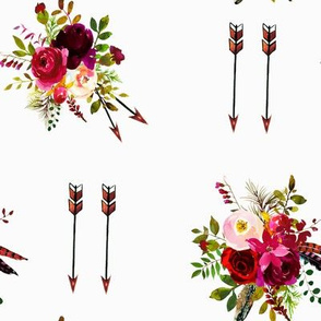 eddf171da85 Burgundy Floral Boquet and Boho Arrows