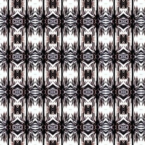 Feather Pattern Black and White