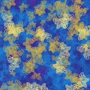 Butterfly Gilt Blue