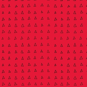 open triangles on red