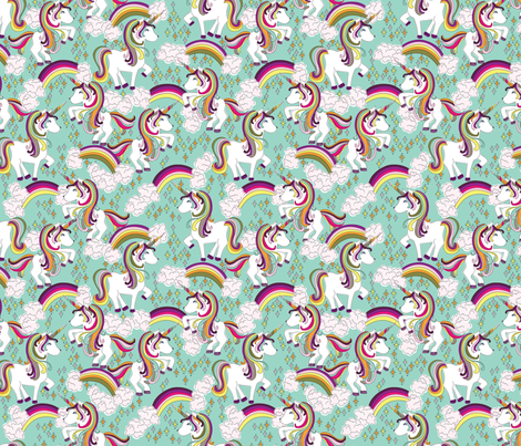 Rainbow Bright fabric by christinelynnjohansen on Spoonflower - custom fabric