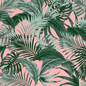 Jungle Palms - Peach