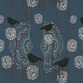 Dahlia and Birds