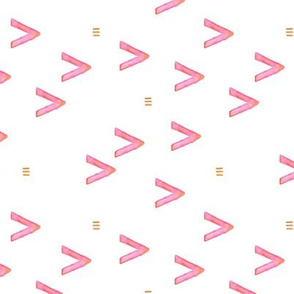 Watercolor arrows and aztec abstract pattern pink