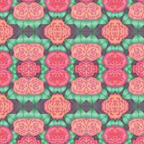Pink Flower Stipple Art