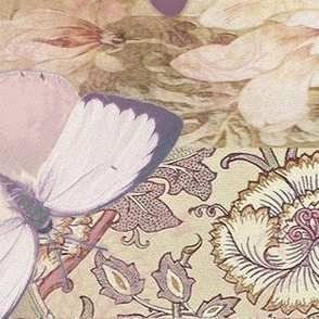 Cream Mauve BUTTERFLY large