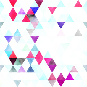 Purple, Pink, Aqua, White Triangles