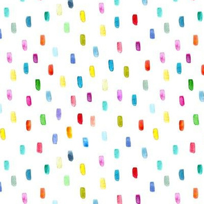 Watercolor colorful confetti