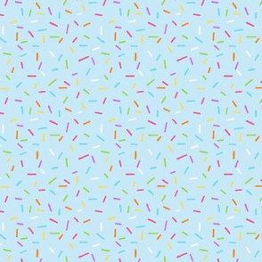 Rainbow Sprinkles on pale blue