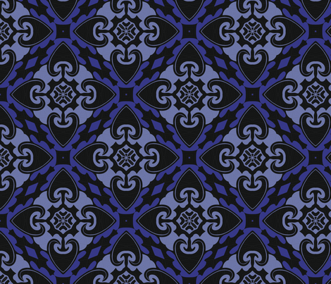 Fierce Heart Tribal fabric by nettieandliz on Spoonflower - custom fabric