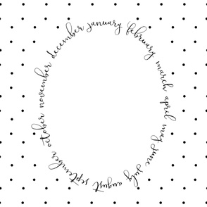 "Pretty Polka Dots Milestone Blanket- 42"" x 36"""