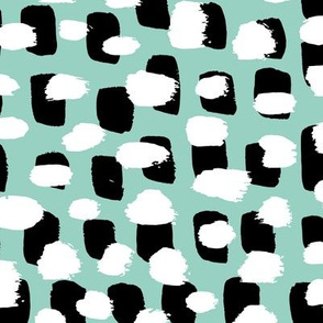 Modern brush spots mix abstract Scandinavian style trend pattern mint