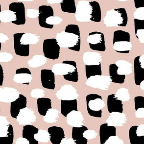 Modern brush spots mix abstract Scandinavian style trend pattern beige