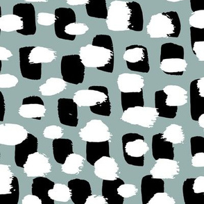 Modern brush spots mix abstract Scandinavian style trend pattern stone gray