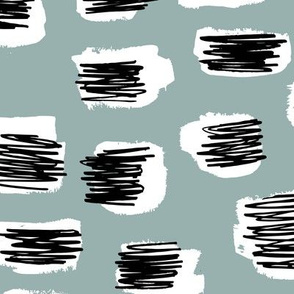 Modern abstract trend Scandinavian style brush spots and scribblings raw ink stone gray